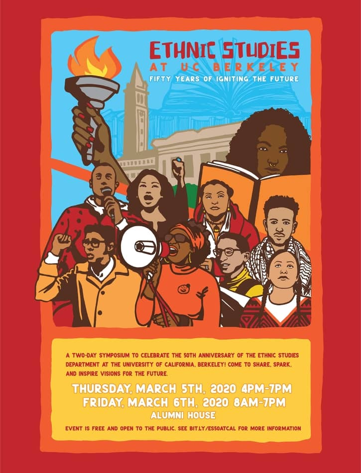 Poster for 50th celebration for Ethnic Studies